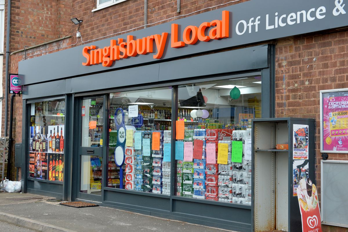 'Singh'sbury Local' on the Bushbury Road, Wolverhampton.