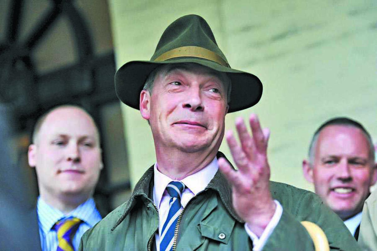 We are being smeared, says Ukip leader Nigel Farage in Midlands visit