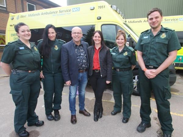 'I owe you all my life': Husband's thanks to lifesaving paramedics