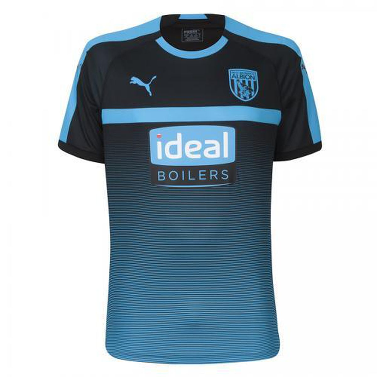 Albion's black and cyan away kit.