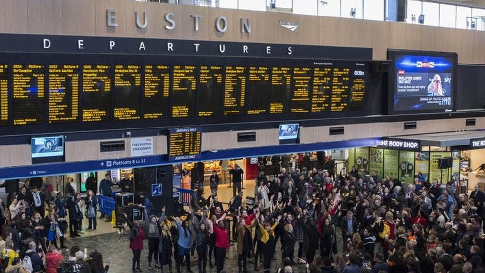 Major disruption on trains into London Euston after fire