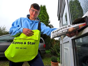 WOLVERHAMPTON COPYRIGHT EXPRESS AND STAR STEVE LEATH 03/10/2020  Pic in Wolverhampton of Paperboy: Callum Douglas 17, for our 'Journalism Matters' feature.