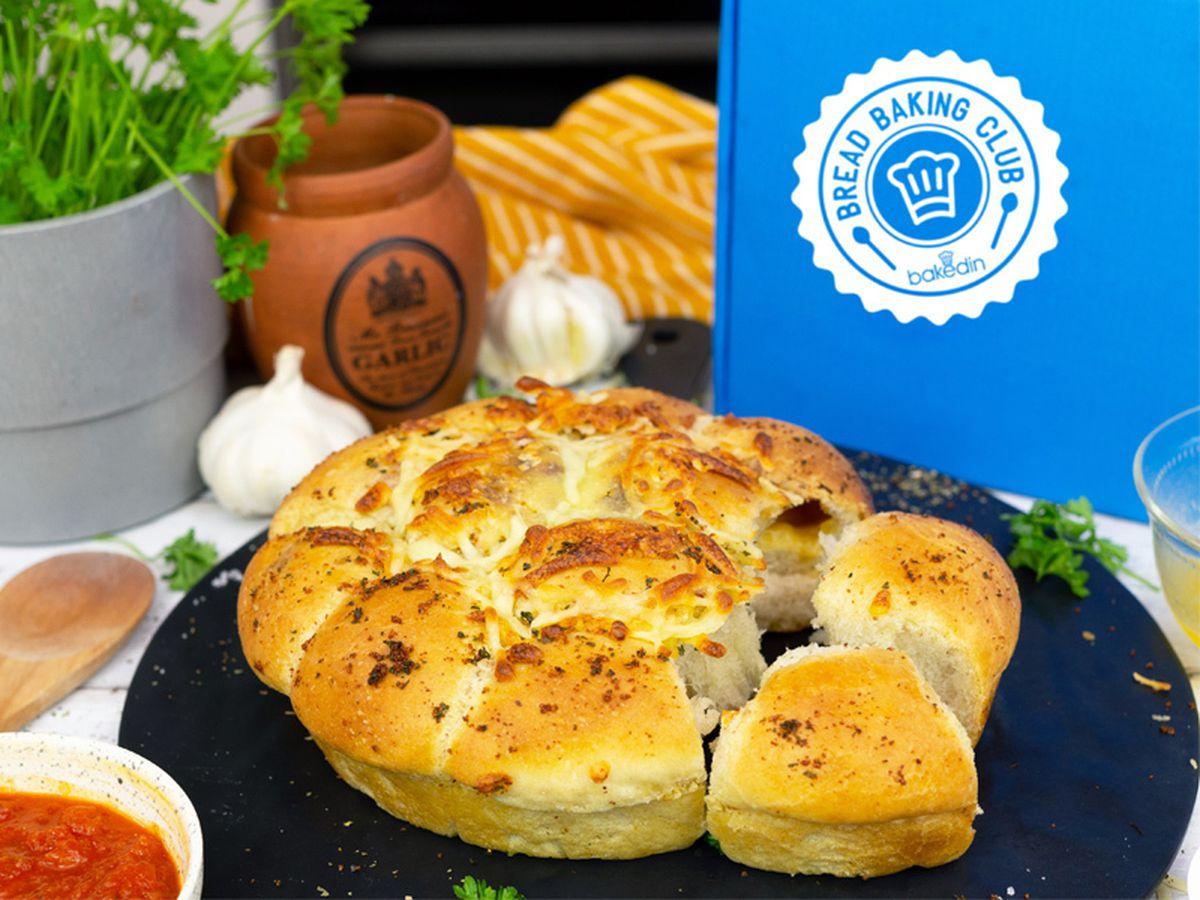 The Bakedin Bread Baking Club: Cheese and Garlic Tear & Share