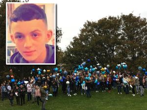 Balloons were released in memory of Lewis Williams, who died aged 16
