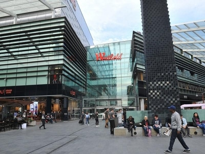 Woman hurt after man 'falls from height' at Stratford Westfield shopping centre