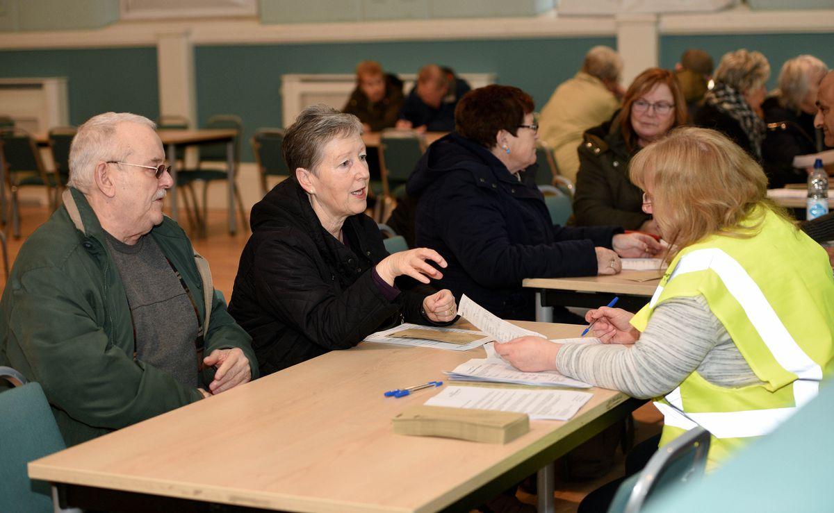 Customers receive advice in Bilston