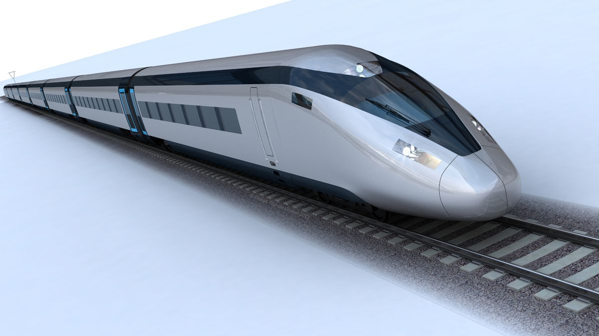 Undated handout photo issued by HS2 of the potential HS2 train design