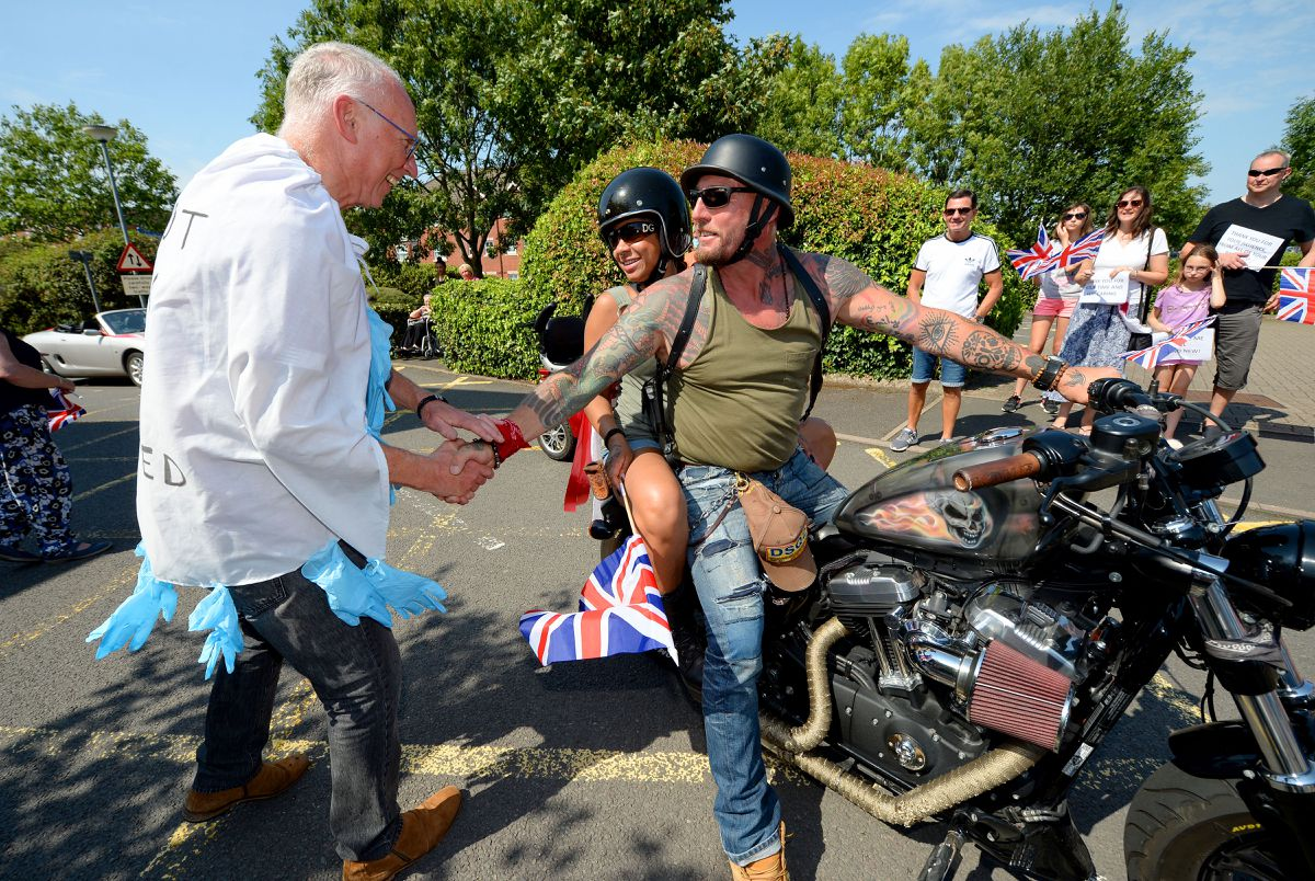 Dr Flenley even had a motorbike escort
