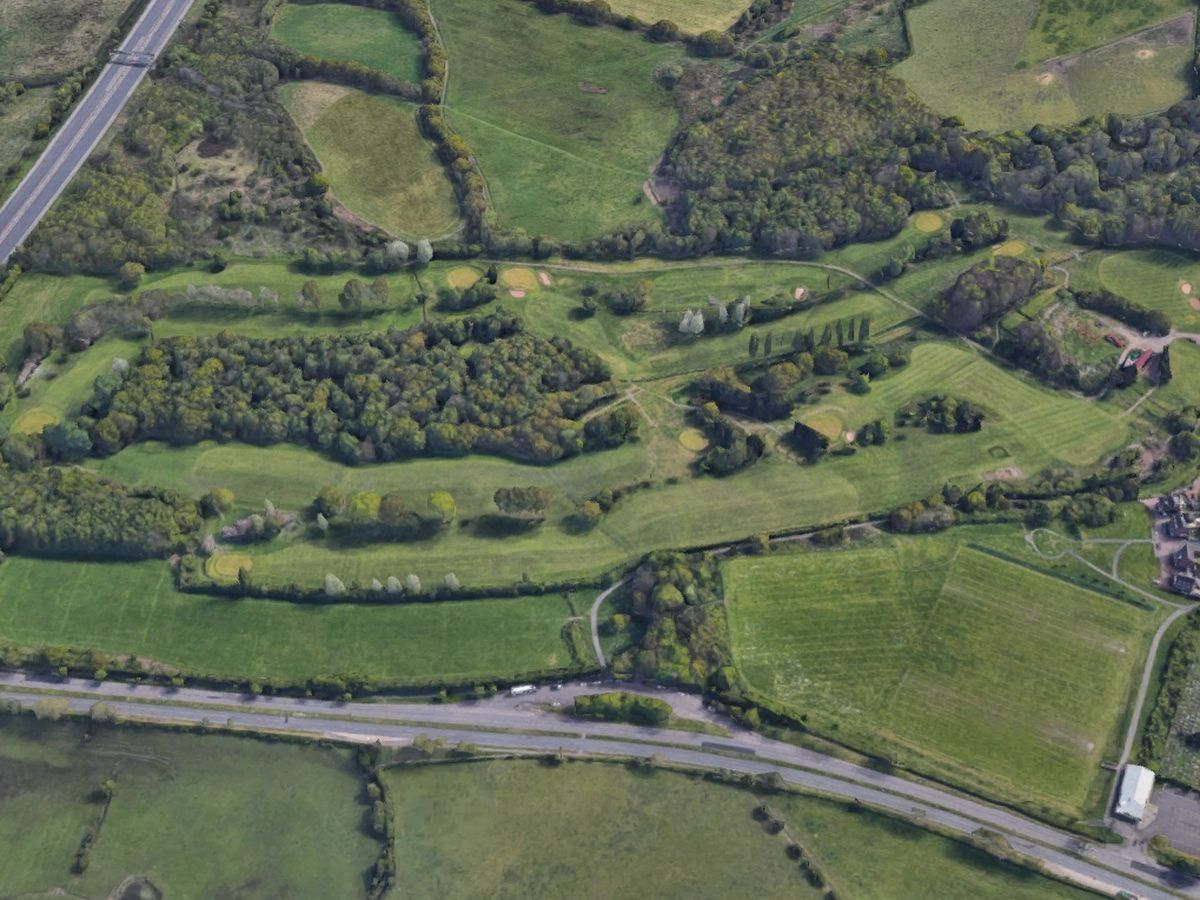 Police have been searching Sandwell Valley after the man was spoken to at the lay by cafe on Newtown Road, bottom of the picture. Photo: Google
