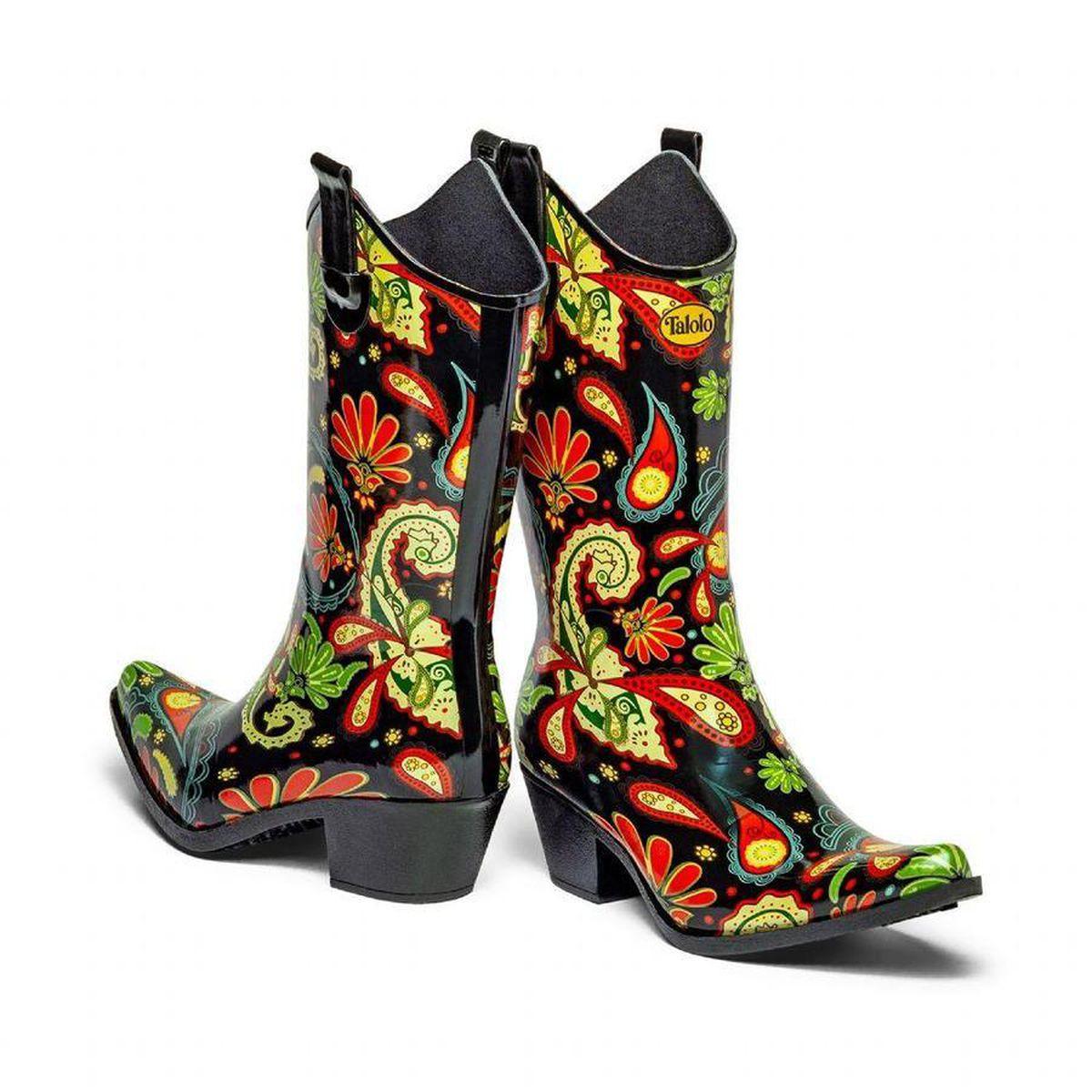Talolo Paisley Vibe Cowboy Boot Wellies