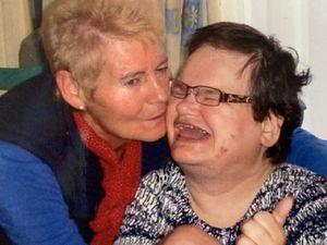 Rachel Johnston with her mother Diana