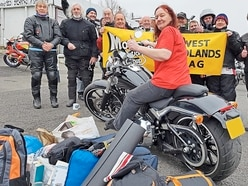 Bikes brave cold to support Stourbridge-based homeless charity cause