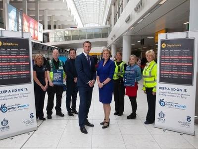 Glasgow Airport praised for success in tackling disruptive passengers