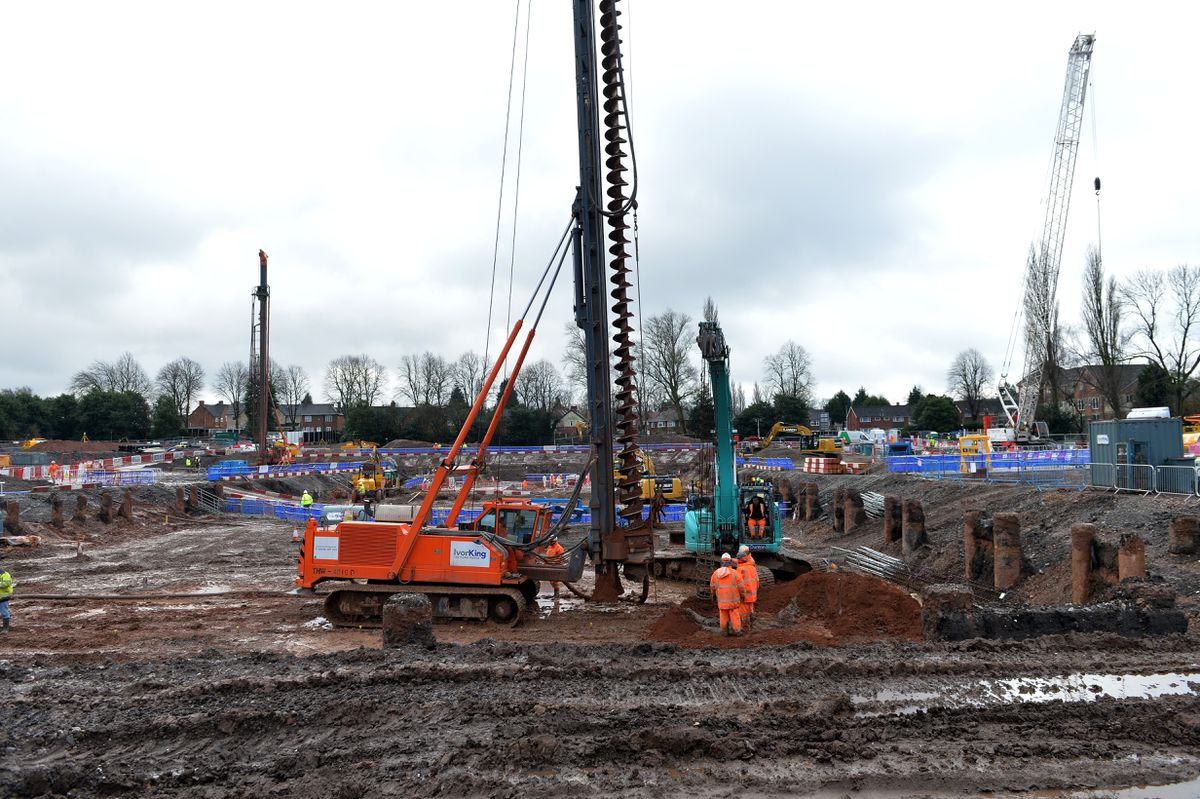 Major construction work has now started on the Londonderry Lane site in Smethwick ahead of the 2022 Commonwealth Games