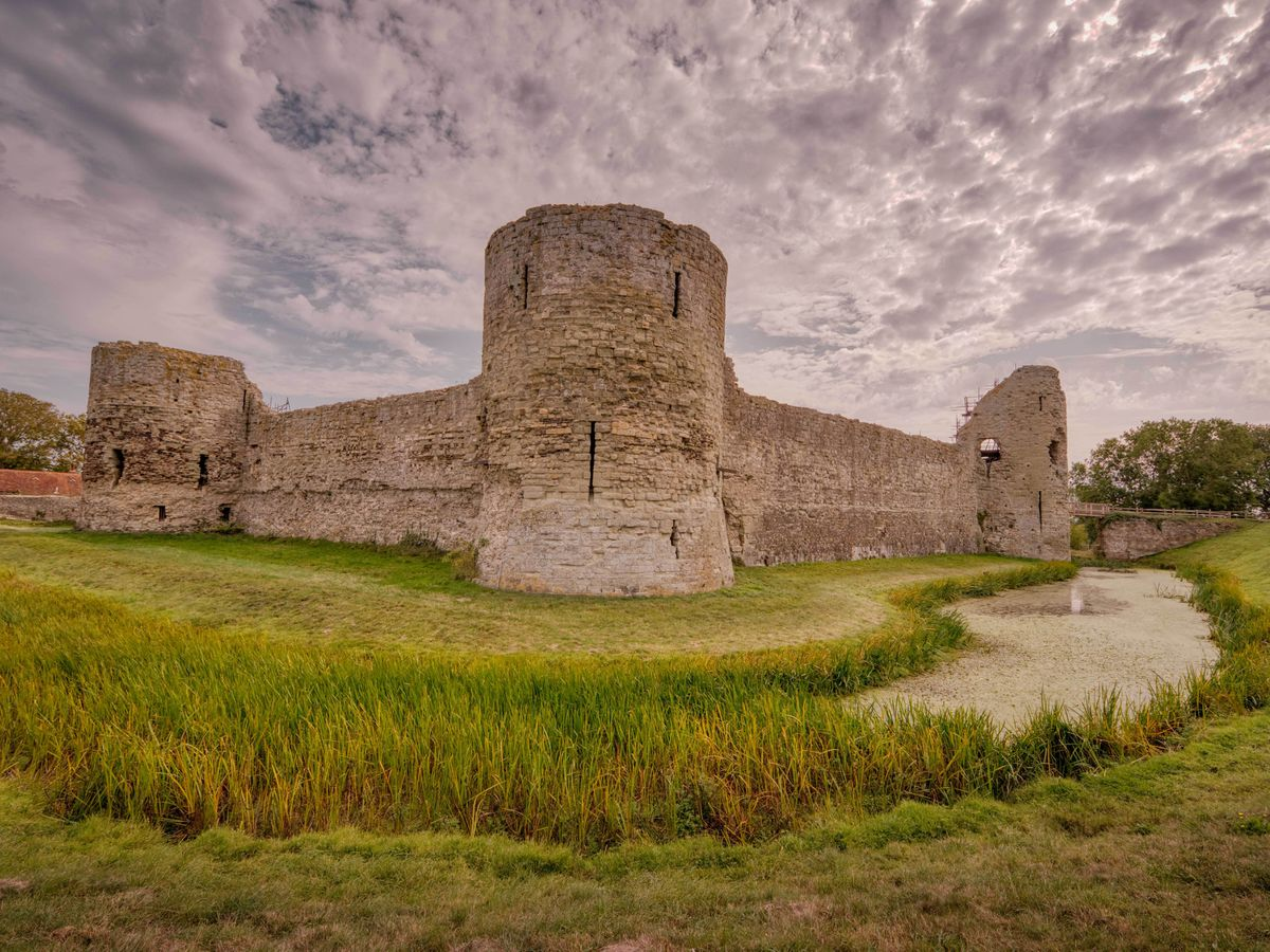 Hidden features of Pevensey Castle uncovered after conservation work resumes