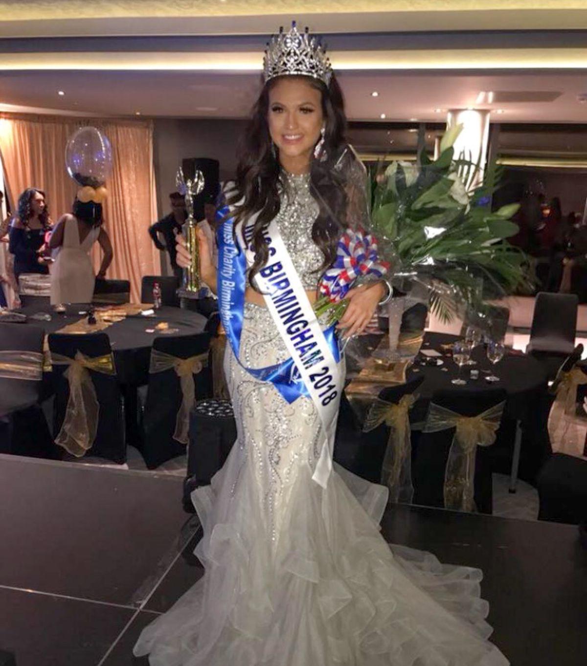 Sacha won Miss Birmingham 2018