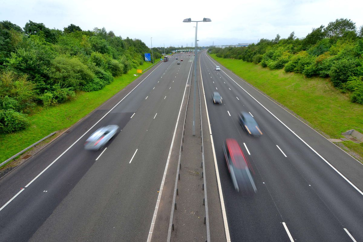 The M6 Toll. Stock photo