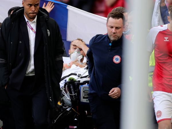 Denmark midfielder Christian Eriksen was carried off the pitch on a stretcher after collapsing during the Euro 2020 match with Finland