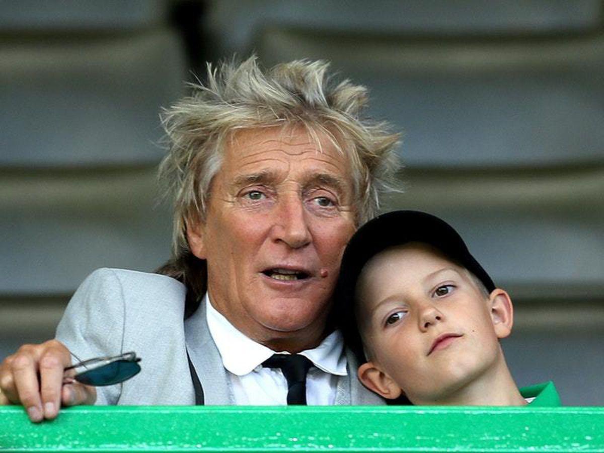 Sir Rod Stewart with son Aiden (PA)