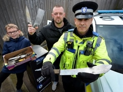 Deadly knife haul pulled from canals by Black Country magnet fishers