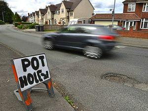 Potholes plague Staffordshire's roads