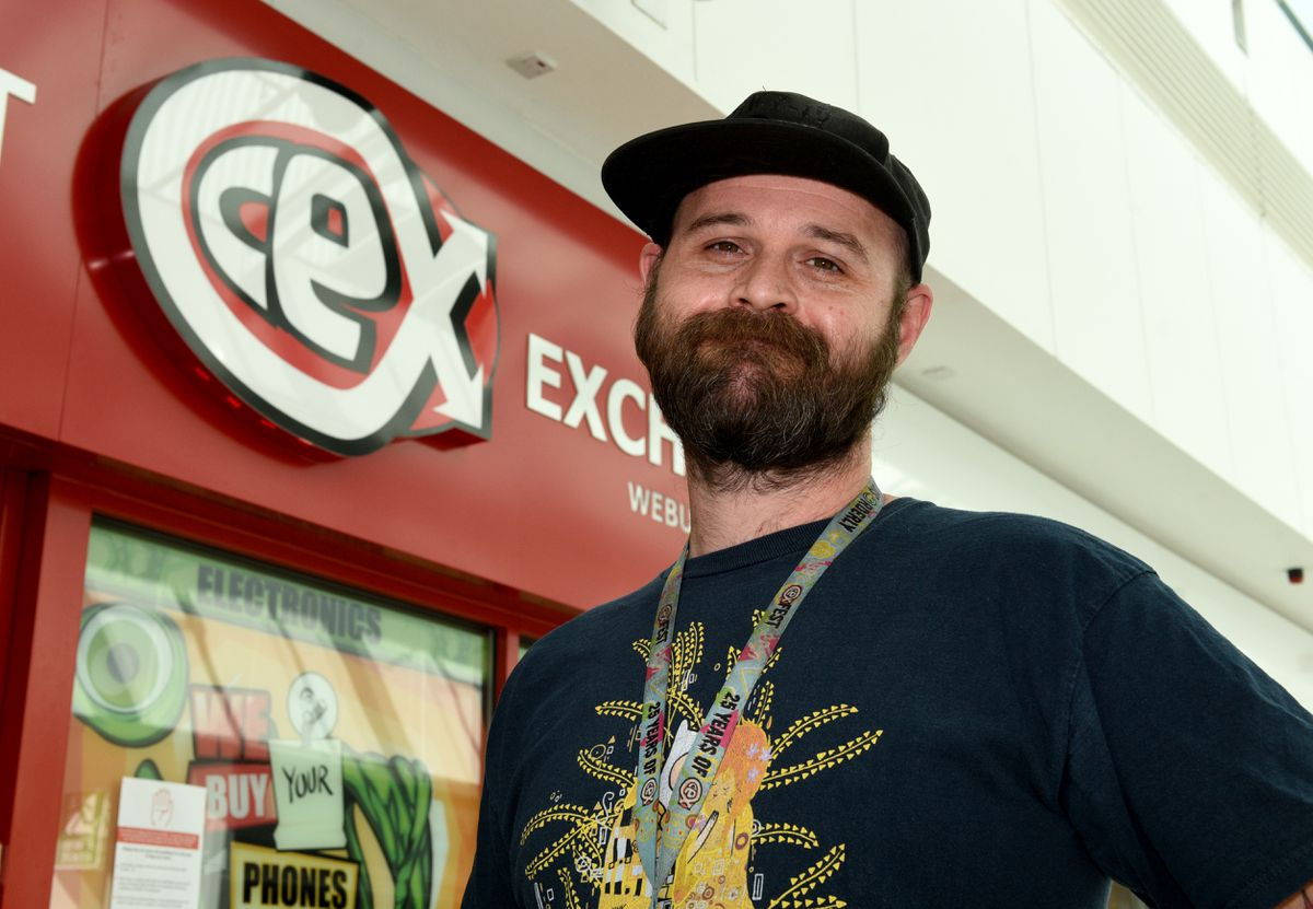 Richard Evans, manager of Cex in the Mander Centre, was delighted that shoppers were returning today