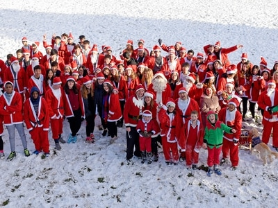 Snow a perfect setting for Tettenhall College Santa Run - with PICTURES and VIDEO
