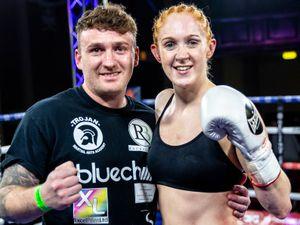 Rachel Ball with trainer Gavin Burrows. Photo: Manjit Narotra/BCB