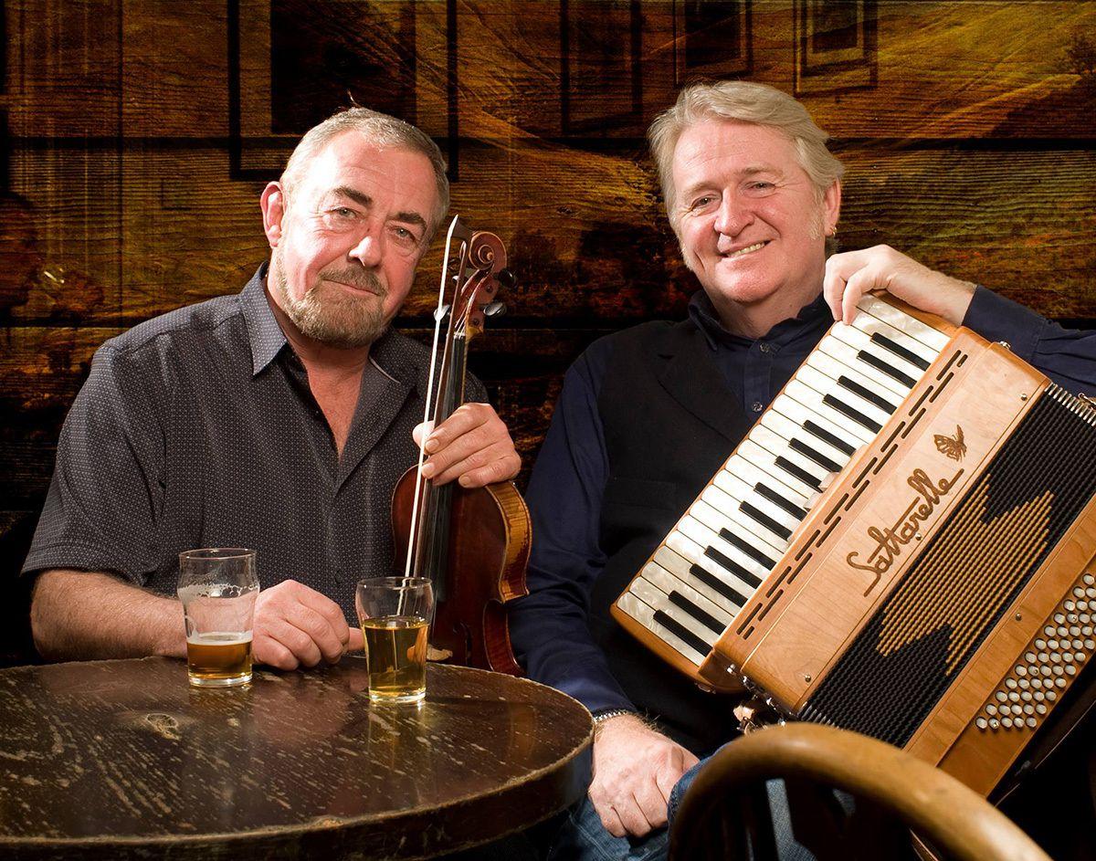 Scottish folk duo Aly Bain and Phil Cunningham