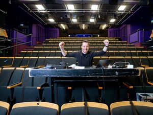 Artistic director Neil Reading celebrates the reopening of Arena Theatre, Wolverhampton