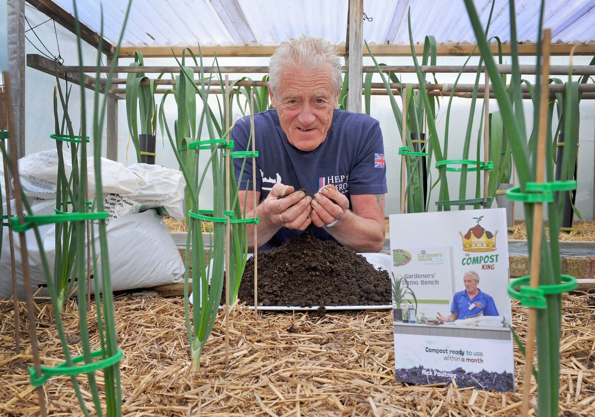 Mick with his book Compost Ready to Use Within A Month