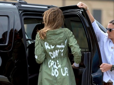 I really don't care: Melania Trump sparks outrage online with slogan jacket