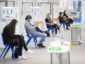 Covid vaccine waiting area