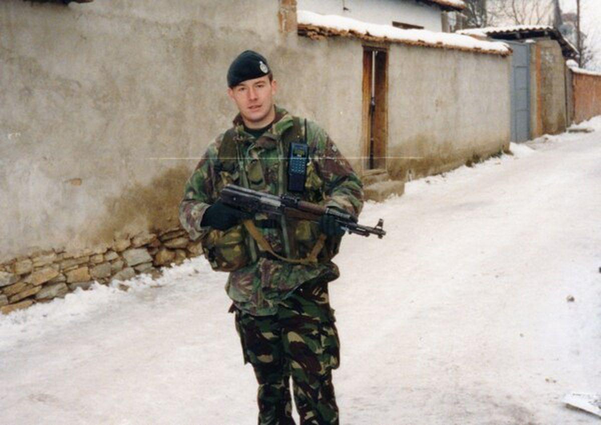 Stuart Anderson on patrol in Kosovo