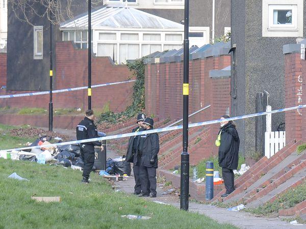 Police at the scene in Burbury Park, Birmingham. Photo: SnapperSK