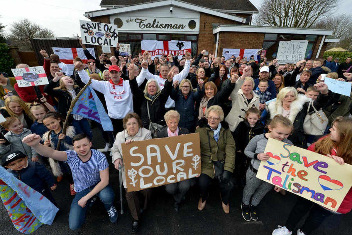 Wolverhampton's Talisman: WATCH protest at drug raid pub's 'unfair' closure