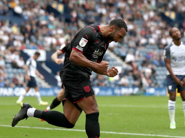 PRESTON, ENGLAND - SEPTEMBER 18:.Matt Phillips of West Bromwich Albion celebrates after scoring a goal to make it 1-1 during the Sky Bet Championship match between Preston North End and West Bromwich Albion at Deepdale on September 18, 2021 in Preston, England. (Photo by Adam Fradgley/West Bromwich Albion FC via Getty Images).