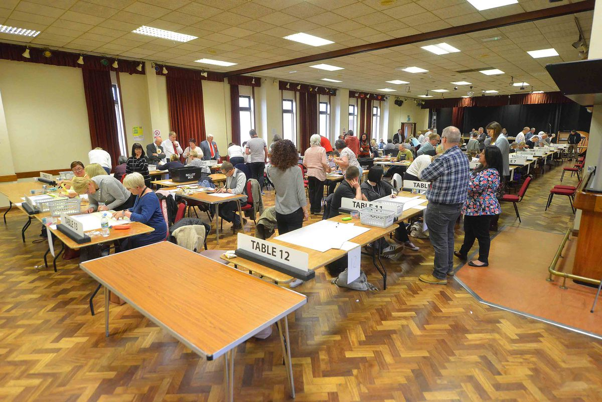 Votes were counted at Cannock Civic Centre