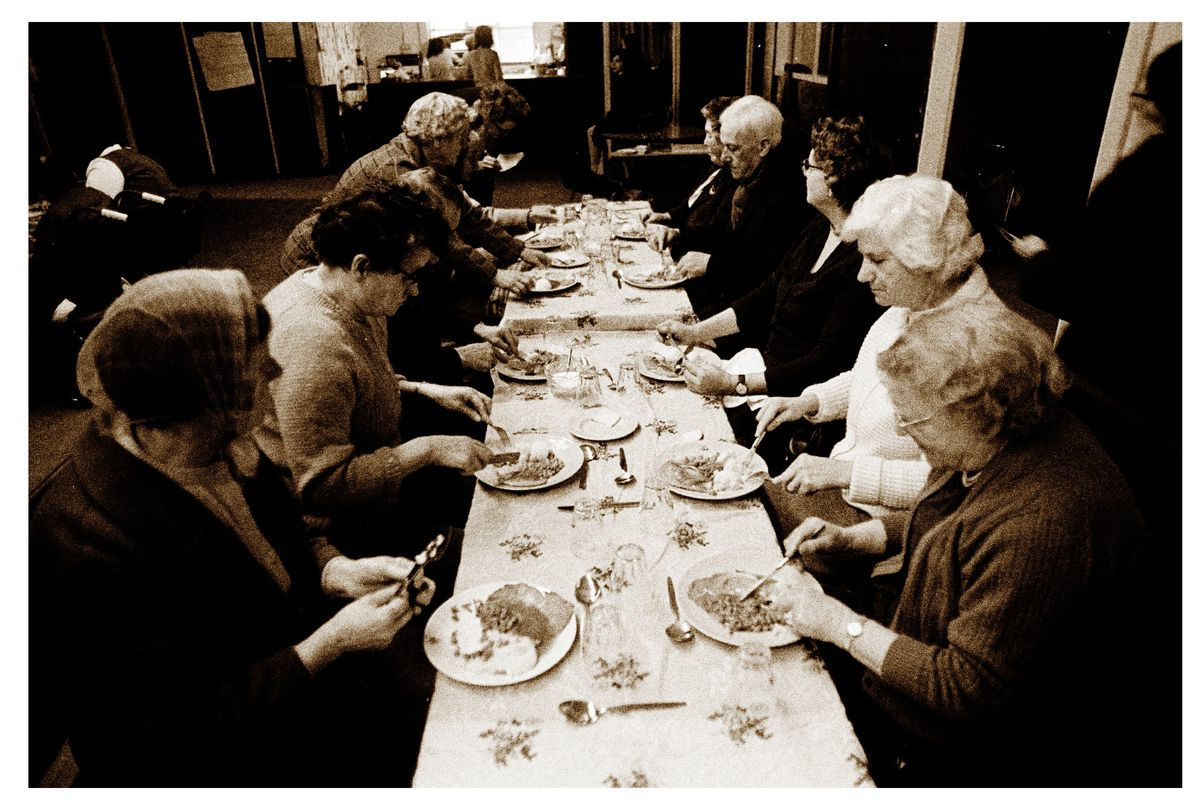 The lunch club at the community hall