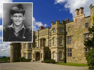 A young Richard Harper, inset, who boarded at Croft Castle