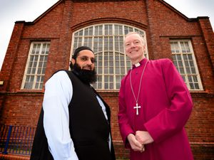 Imam Rashid Raja and Bishop of Wolverhampton Clive Gregory who are joining together in a project with schools about faith