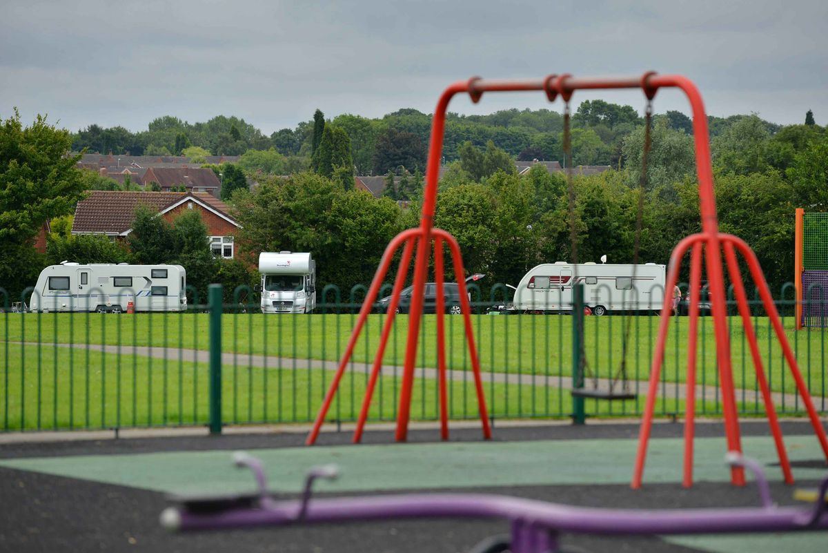 Travellers at Shelfield Park