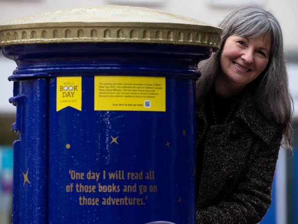 Eloise Williams with her commemorative post box