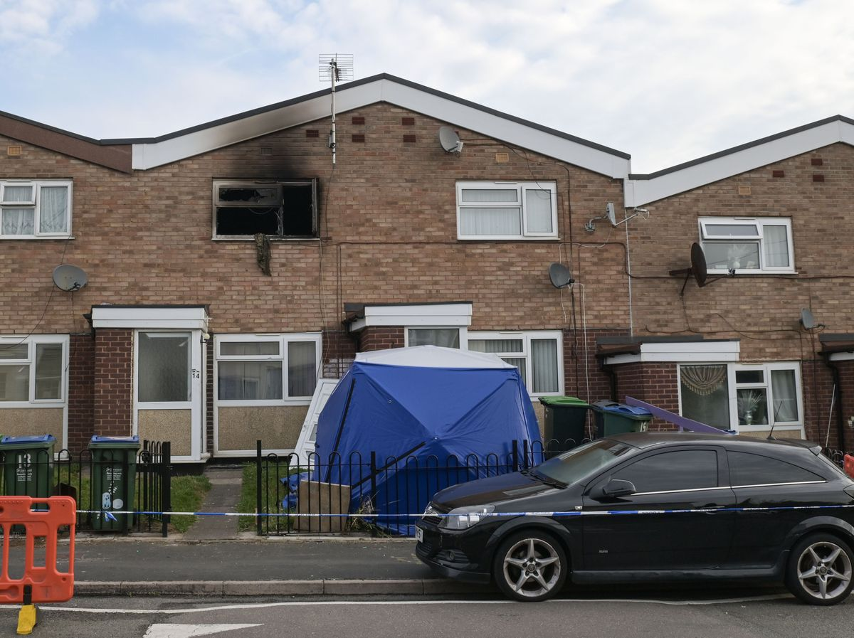 A man has died following a house fire in Tipton. Photo: Snapper SK