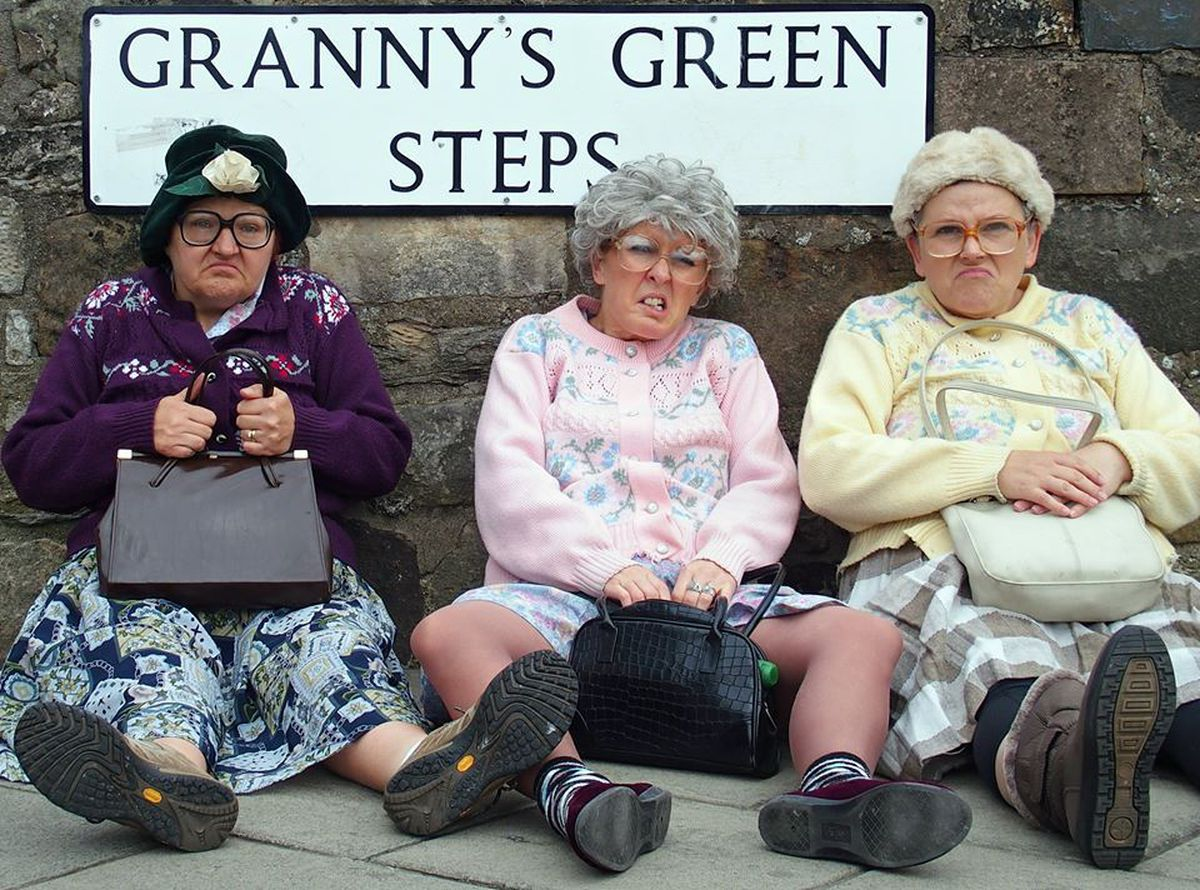 The Dancing Grannies, brainchild of the Fizzogs comedy group,