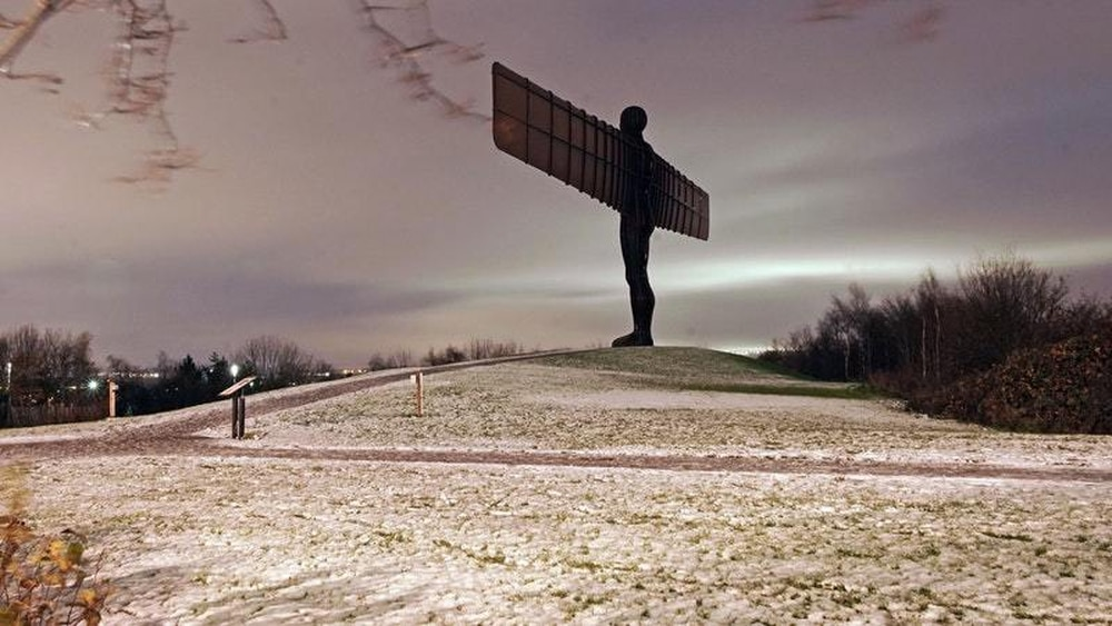 The Angel of the North after last week's snowfall