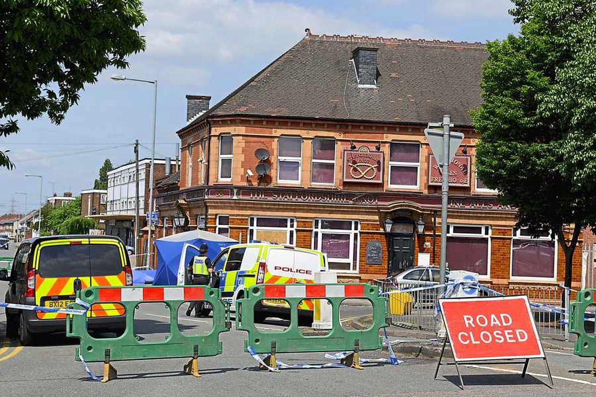 The scene of the attack at The Staffordshire Knot in Darlaston