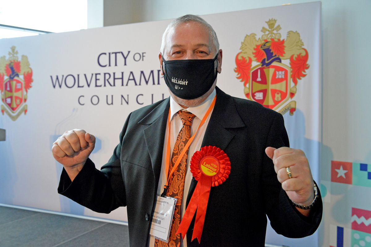 Wolverhampton Council leader Ian Brookfield held onto his seat and comfortable council majority