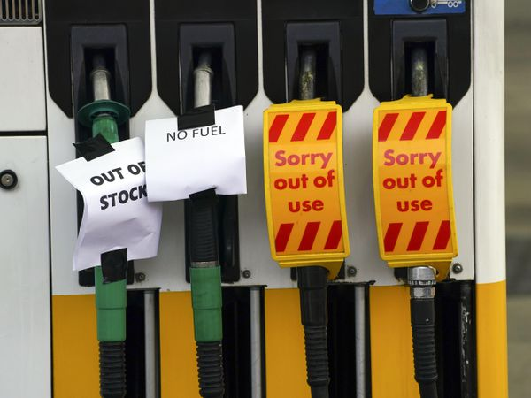 Petrol station in Bracknell, Berkshire, which has no fuel