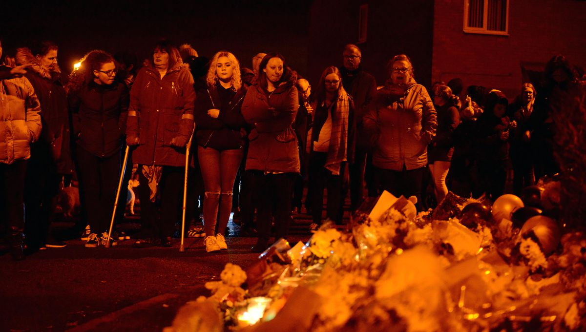 People gathered for a candlelit vigil last week